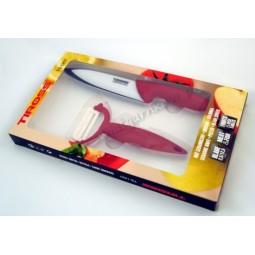 Set ceramică cuțit+curățitor Tiross TS-1207